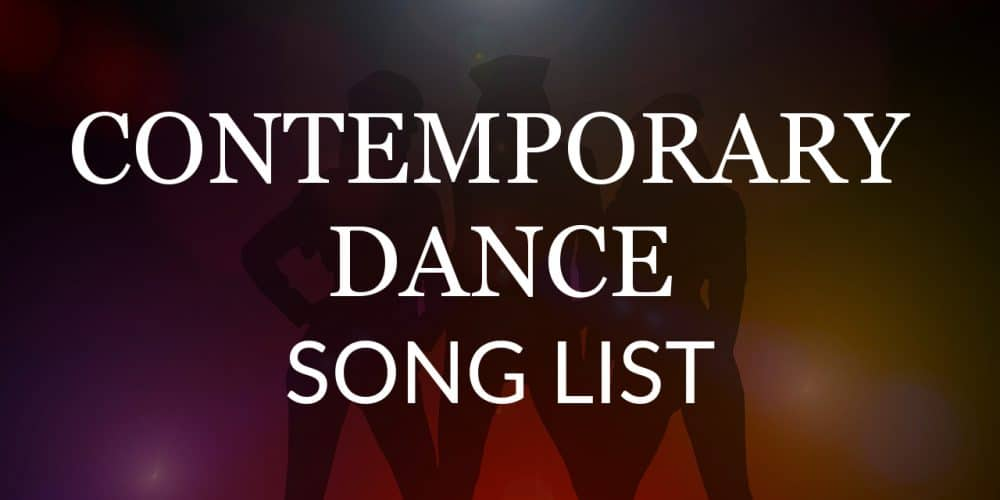 contemporary-dance-song-list